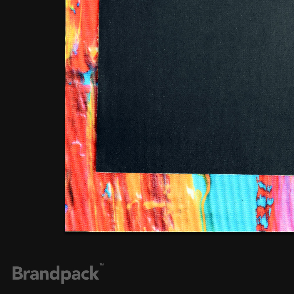 Black back banner printing