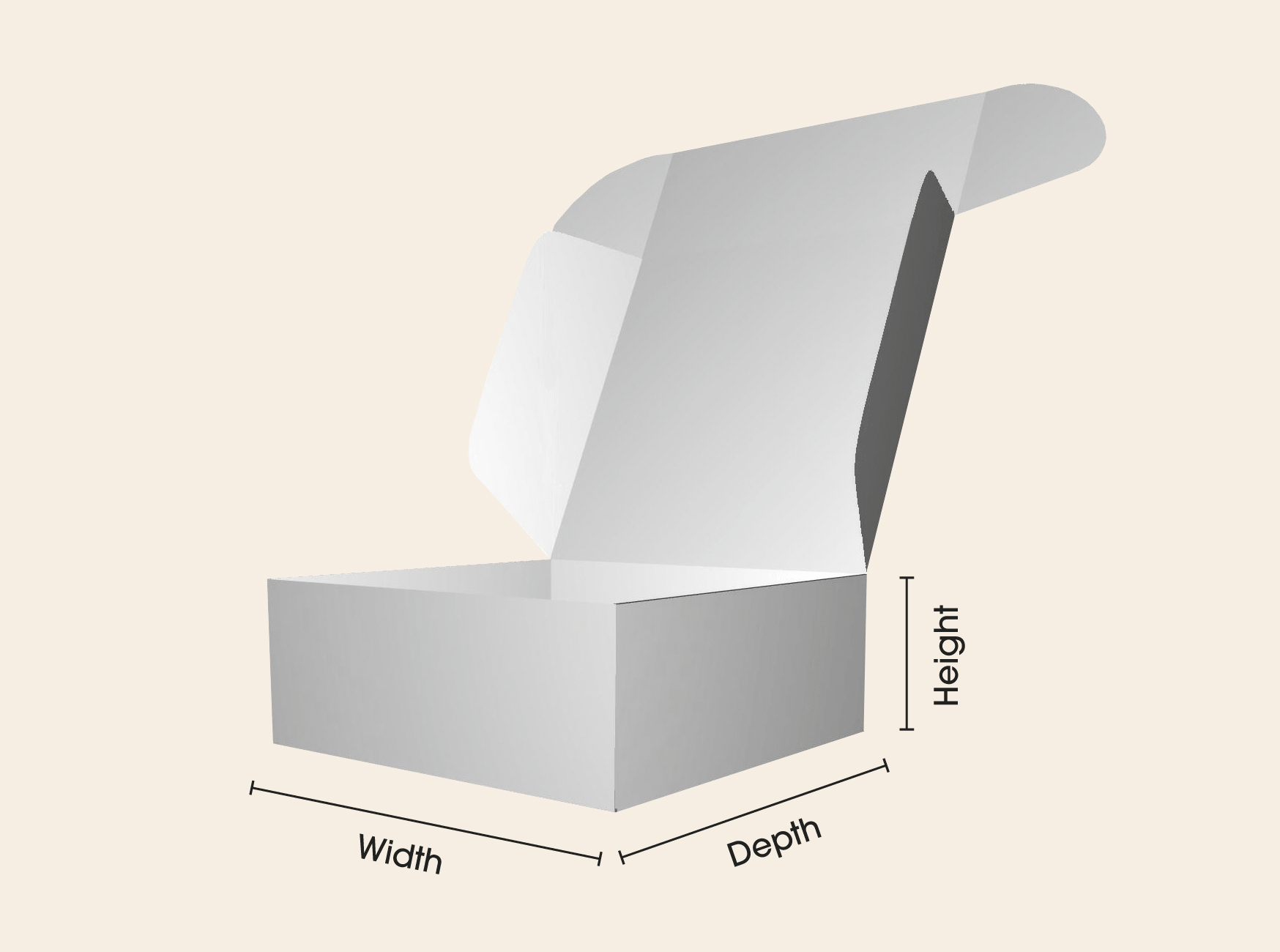 Box printing sizes